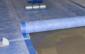 Waterproofing a floor